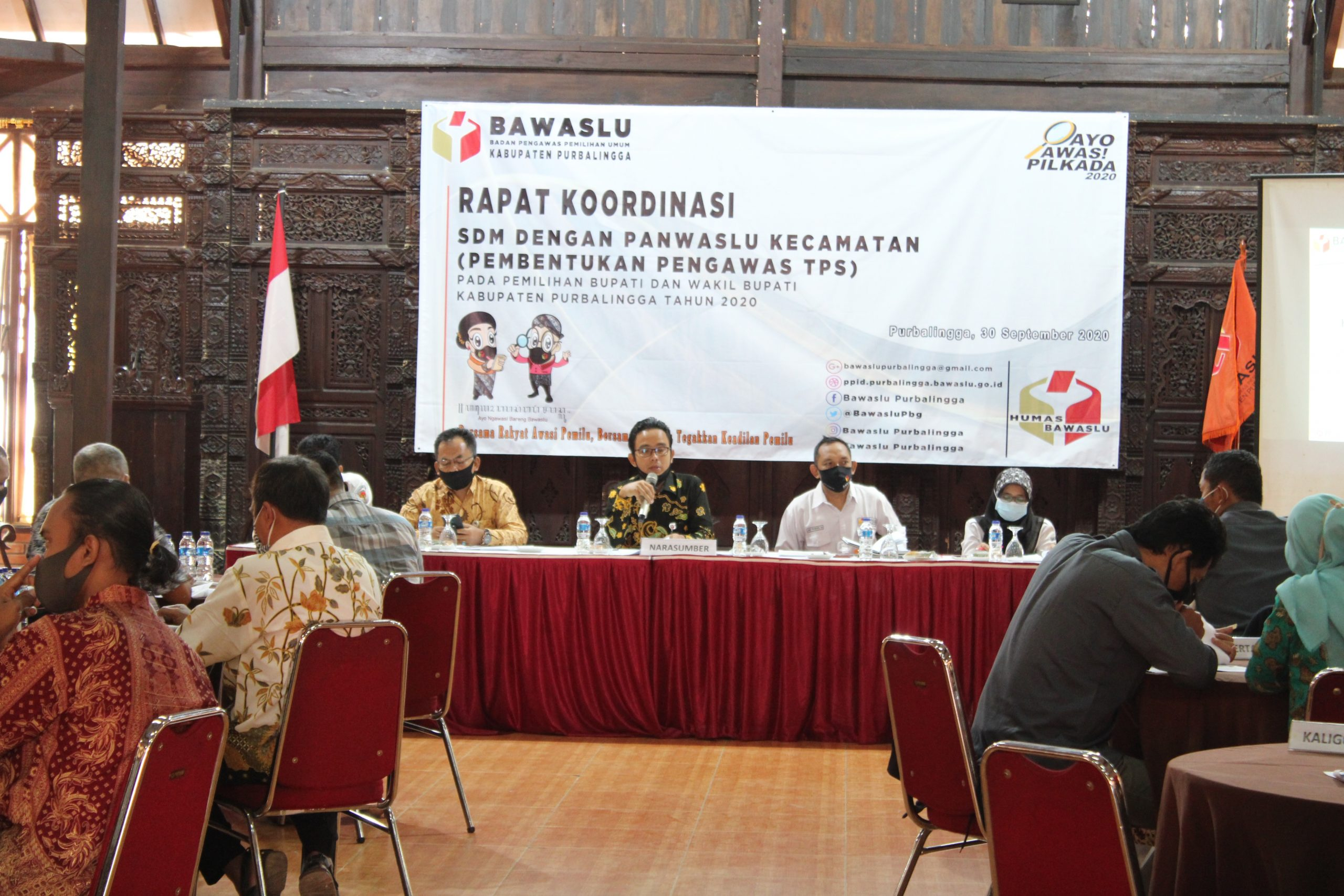 Bawaslu Kabupaten Purbalingga adakan Rakor Pembentukan Adhoc PTPS